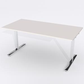 Skrivbord Rektangulär Manuell 140x80 cm Laminat Ljusgrå