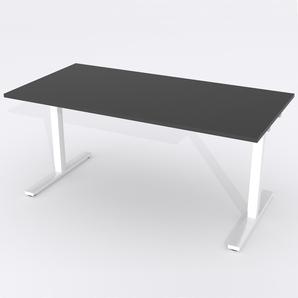 Skrivbord Rektangulär Manuell 160x80 cm Laminat Svart