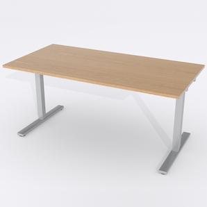 Skrivbord Rektangulär Manuell 160x80 cm Ekfanér