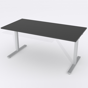 Schreibtisch Rechteck Manuelle 120x80 HP Laminat Schwarz