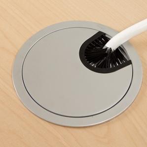 Skrivbord Rektangulär Elektrisk 140x80 cm HP Laminat Svart