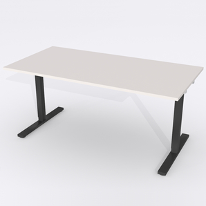 Schreibtisch Rechteck Elektrisch 160x80 Laminat Hellgrau