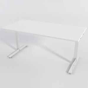 Skrivbord Rektangulär Elektrisk 160x80 cm Laminat Vit