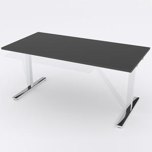 Schreibtisch Rechteck Elektrisch 160x80 Laminat Schwarz