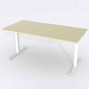 Schreibtisch Rechteck Elektrisch 160x80 Furnier Birke