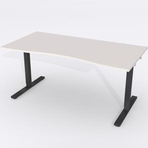 Schreibtisch Ursagad Manuelle 164x82 cm Laminat Hellgrau