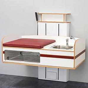 Wickeltisch Flex 2000 mit Waschbecken