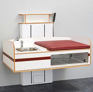Skötbord Flex 2000 Med Tvättdel