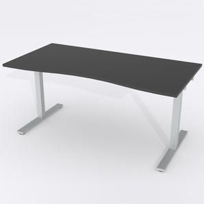 Skrivbord Ursågad Manuell 164x82 cm HP Laminat Svart