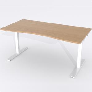 Schreibtisch Ursagad Elektrisch 164x82 Furnier Eiche