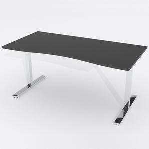 Skrivbord Ursågad Elektrisk 164x82 cm HP Laminat Svart