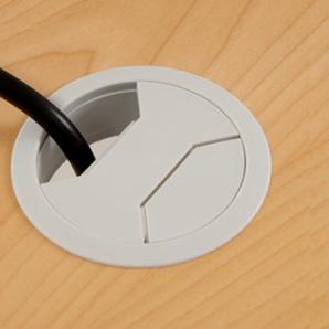 Skrivbord Ursågad Manuell 180x82 cm Laminat Ljusgrå