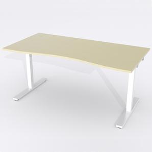Schreibtisch Ursagad Elektrisch 164x82 Furnier Birke