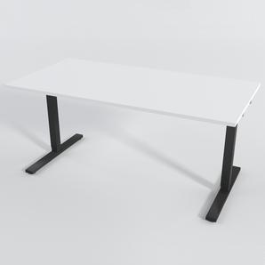 Schreibtisch Rechteck Manuelle 140x80 cm HP Laminat Weiß