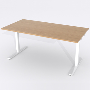Schreibtisch Rechteck Elektrisch 120x80 Furnier Eiche