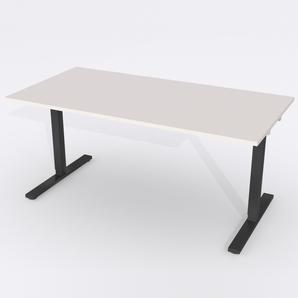 Skrivbord Rektangulär Elektrisk 140x80 cm Laminat Ljusgrå