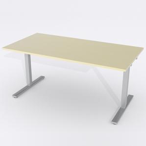 Schreibtisch Rechteck Elektrisch 140x80 Furnier Birke
