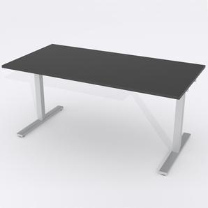 Skrivbord Rektangulär Manuell 180x80 cm Laminat Svart