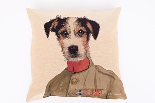 Kuddfodral 50x50cm - Russel/terrier i kostym 2