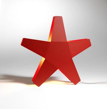 SMD Adventsstjärna röd