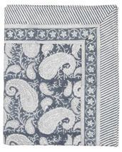 Chamois-paisley-duk- sea blue,