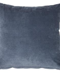 Chamois-velvet-sammetskudde-denimblå