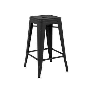 Tolix pall och barstol, 2-pack-basfärg-matt lack