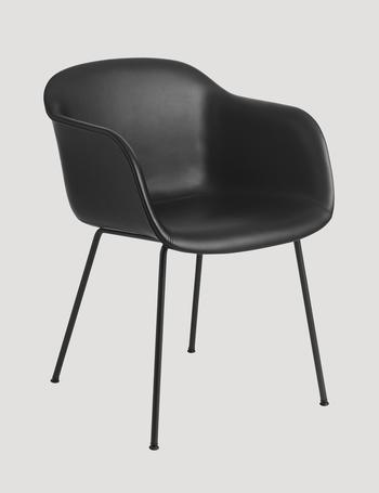 Muuto Fiber leather chair, tube base