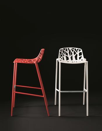 Fast Design -Forest Barstol, högt ryggstöd