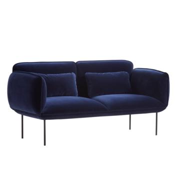 Woud-soffa , Nakki, 2-sits,sammet