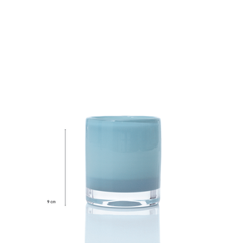 Skogsberg & Smart ljuslykta Hurricane Candy-blåtoner