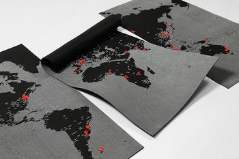 Palomar Pinworld XL världskarta för väggen