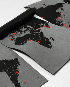 Palomar Pinworld XL map ,världskarta XL för väggen