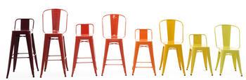 TOLIX barstol med högt ryggstöd