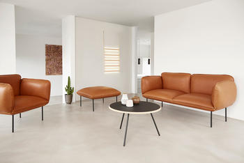 Woud-lounge-fåtölj , Nakki, skinn