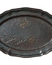 Sthål- Arabesque -ovalt uppläggningsfat