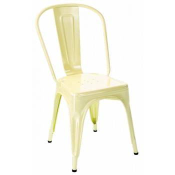 Tolix A stol ,ljusgul blank