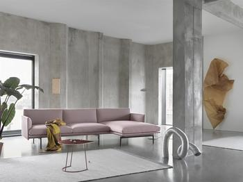 Muuto soffa Outline med chaise longue