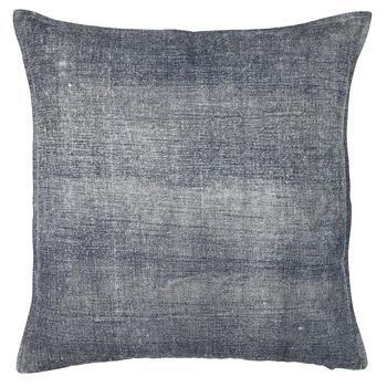 Chamois-borstad bomull kuddfodral grå