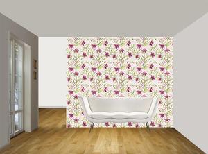 Lilja  vit rosa bakgrund