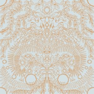 Skörd orange gråblå