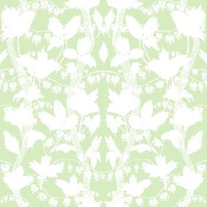 Silhuette vit ljusgrön
