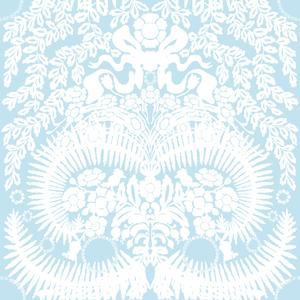 Stensöta vit / ljus blå