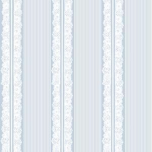 Spets vit ljus marinblå