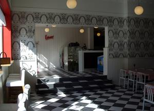 Silbodals wallpaper made for Claras restaurant,  Årjäng Sweden