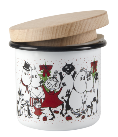 Moomin enamel jar - 3,7 dl - Winter Magic