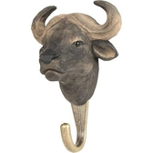 Handcarved hook African Buffalo