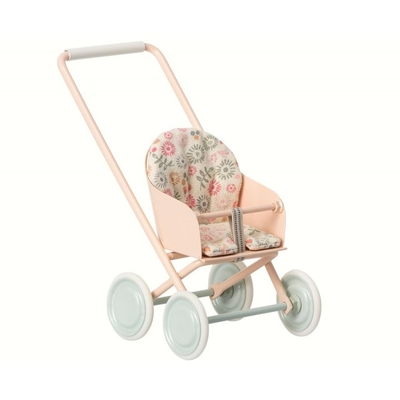 Maileg -  Stroller, baby pink, for Micro