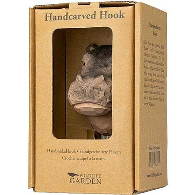 Handsnidad hängare Flodhäst