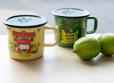 Pippi enamel mug, 3,7 dl - Villa Villekulla